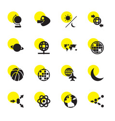 16 sphere icons vector image