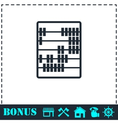 Abacus icon flat vector