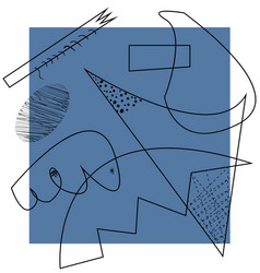 Abstract artwork inspired cubism vector