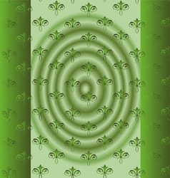 Abstract Beautiful Green Floral Background vector