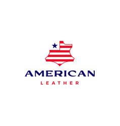 american leather usa flag logo icon vector image