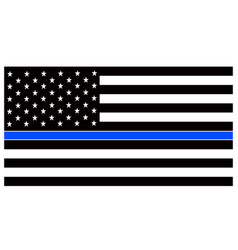 American police flag thin blue line american vector