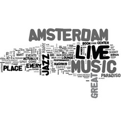 amsterdam hotels text word cloud concept vector image