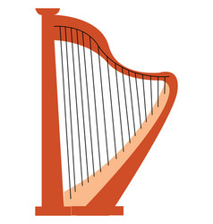 an antique stringed musical instrument played by vector image