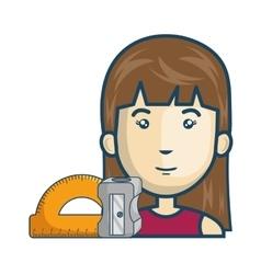 Avatar woman cartoon vector