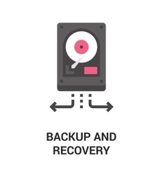 backup and recovery icon vector image