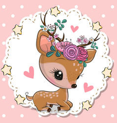 Badeer with flowers and hearts on a pink vector
