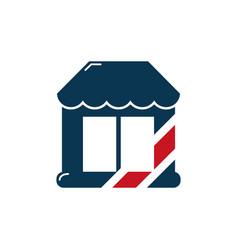 barber shop symbol icon design vector image