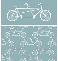 Bike seamless pattern bicycle Tandem texture vector image