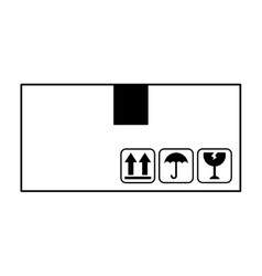 Box carton container isolated icon vector