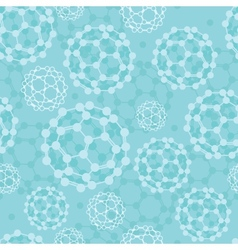 Buckyballs seamless pattern background vector