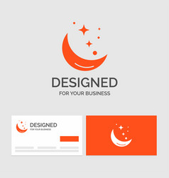 Business logo template for moon night star vector