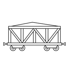 Cargo wagon icon outline style vector image