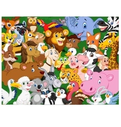 Cartoon animals background vector