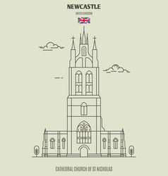 cathedral church of st nicholas in newcastle vector image