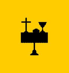 Christian symbols a table with biblical symbols vector