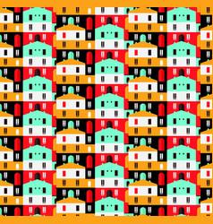 city seamless pattern flat style vector image