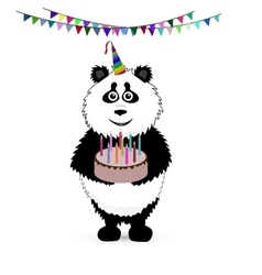 Cute baby card with nice panda vector