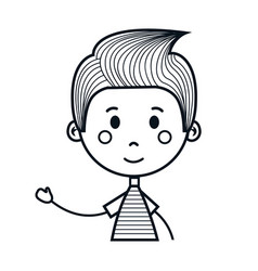 Cute little boy drawing icon vector