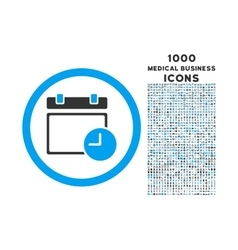 Date and Time Rounded Icon with 1000 Bonus Icons vector image