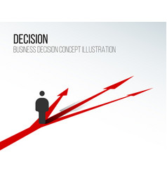decision concept vector image