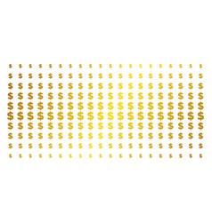dollar gold halftone array vector image