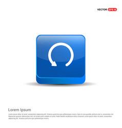 down arrow icon - 3d blue button vector image