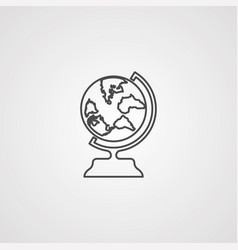 earth globe icon sign symbol vector image