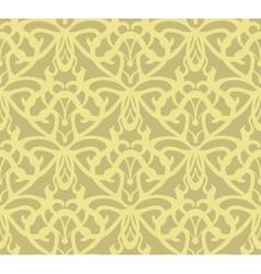 Elaborate golden vintage seamless pattern vector image