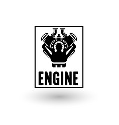 Engine logo vector