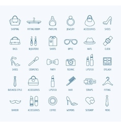 Fashion logo icons set Style dress or vector image