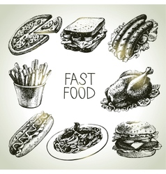 Fast food set vector image