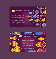 fish abstract colorful sea creatures vector image