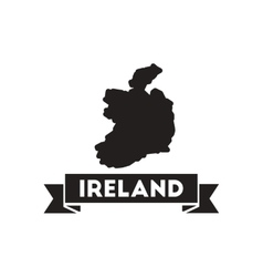 Flat icon in black and white Ireland map vector