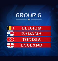 football championship groups set of national vector image