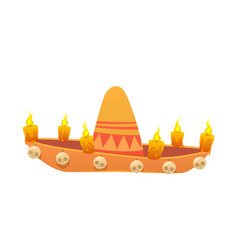 for the day of the dead sombrero vector image