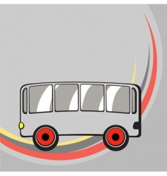 funny bus vector image