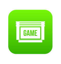 game cartridge icon digital green vector image