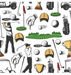 Golf sport game seamless pattern background vector
