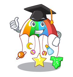 Graduation cartoon hanging toys with baby carousel vector