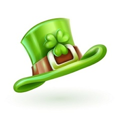 green cap of Saint Patrick vector image