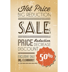 grunge retro sale background vector image