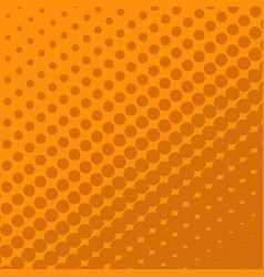 Halftone dots on orange background vector