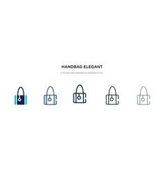 Handbag elegant de icon in different style two vector