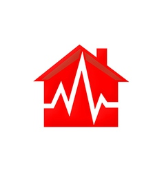 home medical care logo vector image