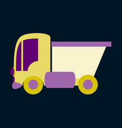 Icon in flat design truck toy vector