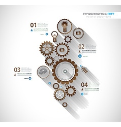 Infographic timeline with Gear mechanic vector