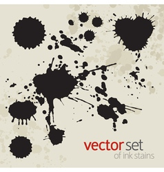 Ink stains set 2 vector image vector image