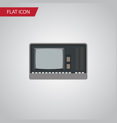 isolated technology flat icon vintage hardware vector image