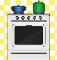 Kitchen stove vector